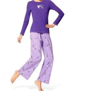 Hue I Heart Cats Pajamas and Lounge Socks Purple S